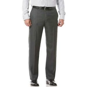 Perry Ellis Portfolio Mens Flat Front Travel Luxe Dress Pant