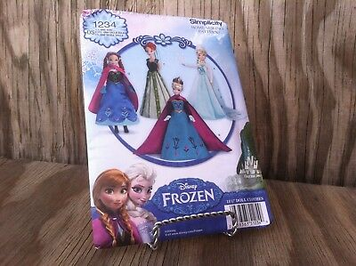 "ONE SIZE.NEW Simplicity 1234  Disney FROZEN 11 1//2/"" DOLL PATTERN 29 PCS"