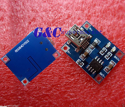 5V Mini USB 1A Lithium Battery Charging Board Charger Module  MG8