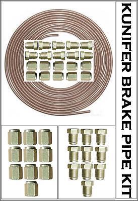 "14 3//8 UNF Male Female Ends Copper Nickel 3//16/"" Kunifer Brake Pipe 25ft Roll"