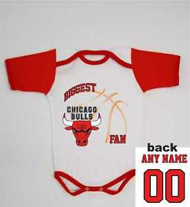 5cee77e61b7 Image is loading Chicago-Bulls-Baby-Bodysuit-Basketball-Custom-Newborn-NBA-