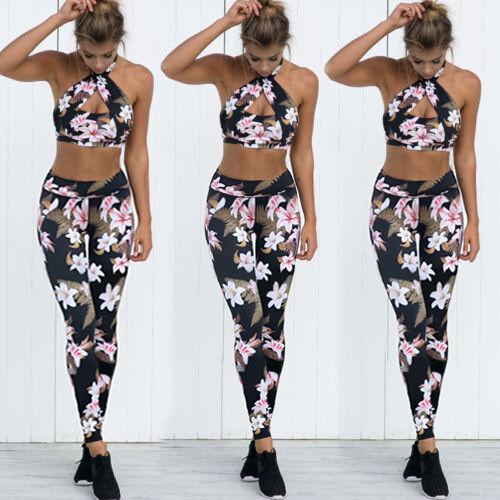 Women Yoga Pants Ladies Fitness Leggings Running Gym Exercise Sports Trousers