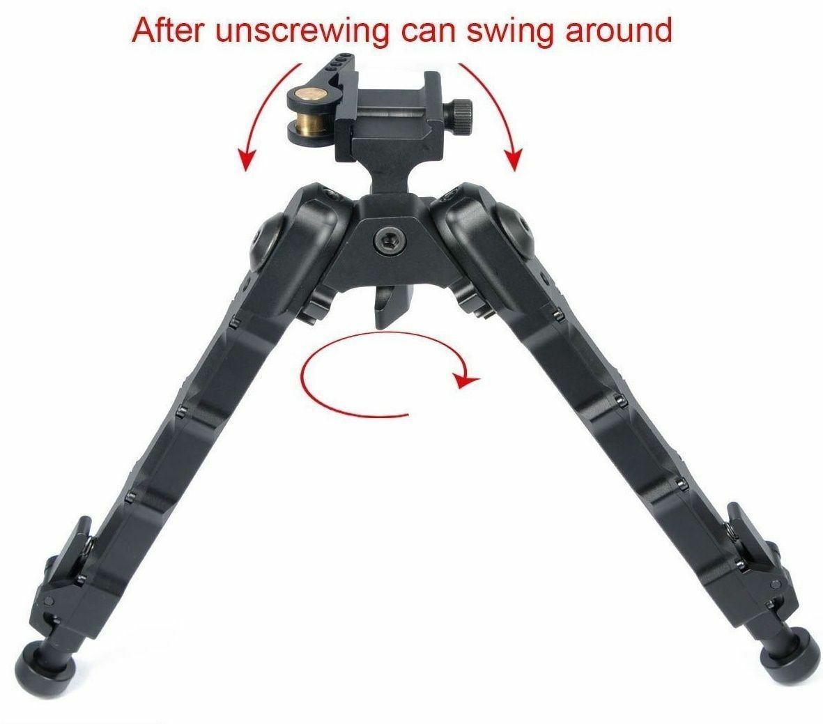 2018 Tactical QD Bipod 7.25 - 9 9 9 inches Flat Adjustable Fits For 20mm Picatinny cfbffe