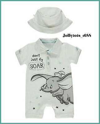 Disney Baby Boys Dumbo Clothes Shorts /& Top Set BNWT 0-18 Months