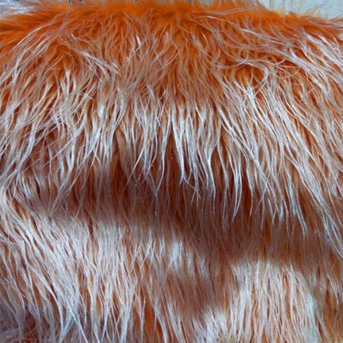Long Wool Silk Faux Fur Fabric Soft Plush Toys Carpet Craft DIY Home Decoration