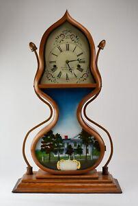 25-J-C-Brown-Forrestville-Acorn-Repro-Mantle-Clock-NO-RESERVE-TE-103