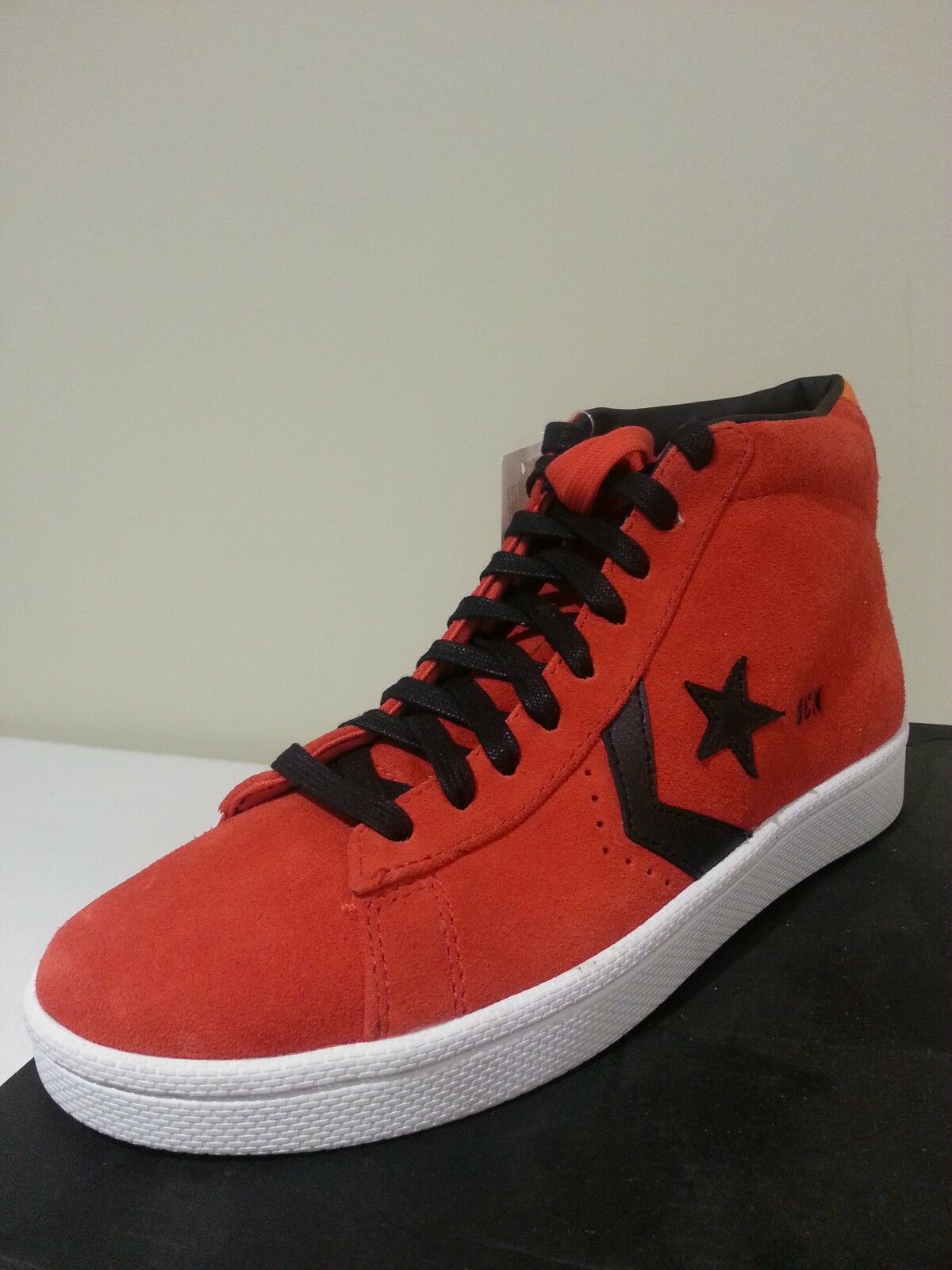 NEW CONVERSE PRO LEATHER PLUS MID Red / Orange / Blue  Uomo 7