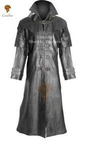 060d5e9a3 Details about Unisex Vampire Gothic Steampunk Vintage Military Edwardian  Fancy Leather Coat