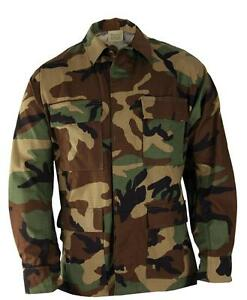 Amical Us Army Gi Bdu Combat Field Veste Woodland Camouflage Xx Large Regular