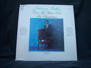 """Columbia CS-9923 Johnny Mathis - Give Me Your Love For Christmas 1969 12"""" 33 RPM 