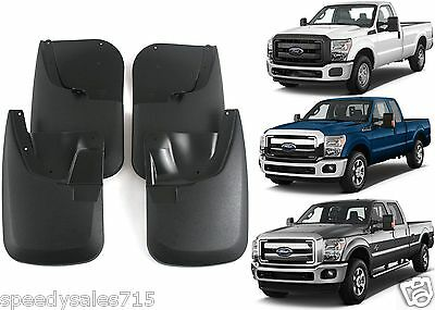 4PC FRONT & REAR NO DRILL MUD FLAPS FOR 2011-2016 FORD F-250 F-350 NEW FREE SHIP