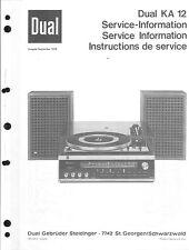 Dual Service Manual für KA 12