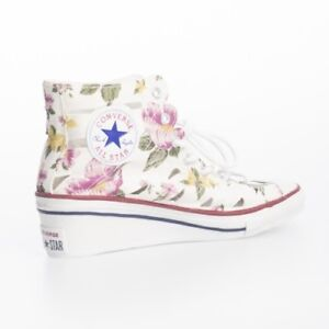 15f5a9df1413 Converse Women s CT All Star Hi-Ness Floral WEDGE Heel CUT OUT ...