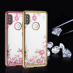 Clear-Crystal-Diamond-Soft-Silicone-Case-For-Xiaomi-Redmi-Note-7-Pro-MI-A2-Lite