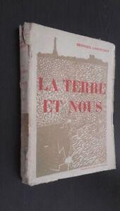 La Tierra Y Nosotros 1933 Fasquelle A París Georges Lakhovxky Pin ABE