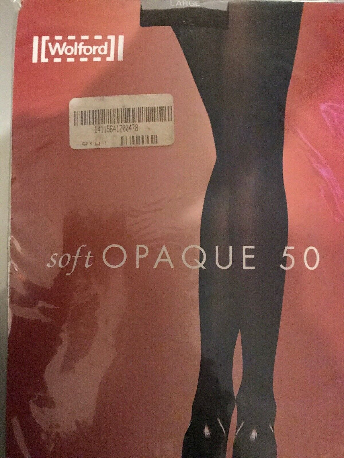 Wolford Soft Opaque 50 Tights Size  Large color  Coca 18536 - 12