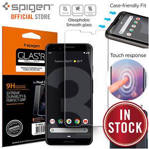 buy popular 98650 8fe82 Details about Google Pixel 3 Screen Protector, Genuine SPIGEN GLAS.tR Slim  9H Tempered Glass