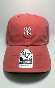 3dd643ac2 Island Red New York Yankees Mini Logo 47 Brand Clean Up Adjustable ...