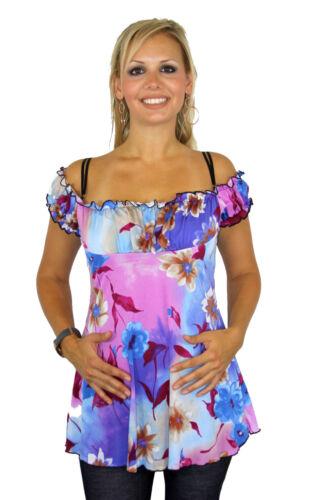 Short Sleeve Floral Pink Purple Cream Pregnancy Blouse Weding Babyshower New