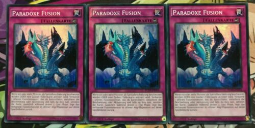 3x paradoxes Fusion fuen-de058 super rare allemand 1 Tirage Playset Yu-Gi-Oh