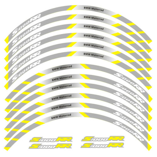 """MOTORCYCLE RIM /""""17 STRIPES WHEEL DECALS TAPE STICKERS FOR BMW S1000RR"""