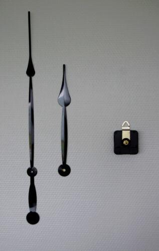 mouvement horloge pendule grandes aiguilles poire géantes 25//38cm canon long DIY