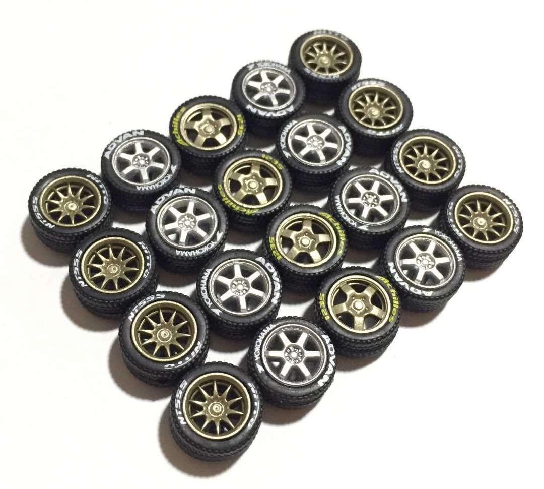 a la venta 1 64 64 64 Escala neumáticos de goma CE28 TE37 T5 Llantas Fit Hot Wheels Diecast - 5 Juegos  60% de descuento