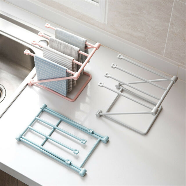 Foldable Kitchen Sponge Storage Racks Bathroom Towels Drain Racks Home Supplie.