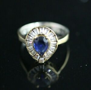 925-Sterling-Silver-Handmade-Authentic-Turkish-Sapphire-Ladies-Ring-Size-7-9