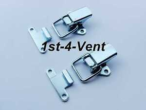 FASTENER DUCTING 2x TOGGLE CLIPS HOOKS BOX LID for BONNET CASES BOOT