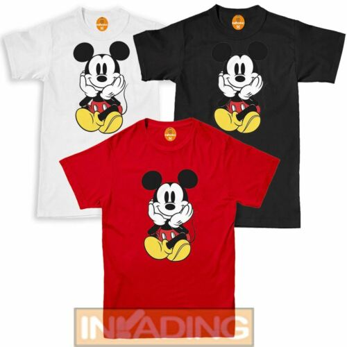 Colourful Mickey Mouse Art Funny Face Characters Men T Shirt Top Tee