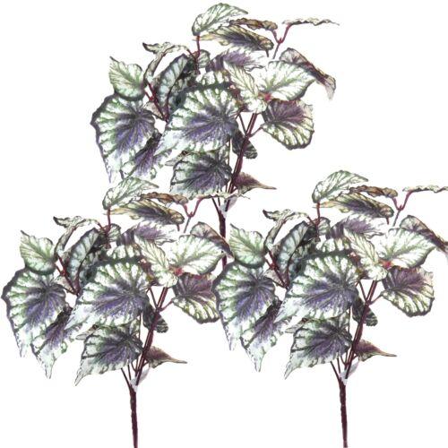 Lot de 3 artificiel 31cm begonia plantes-décoration plastique plantes