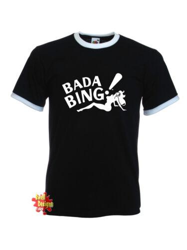 Bada Bing Sopranos Ringer T-Shirt Alle Größen