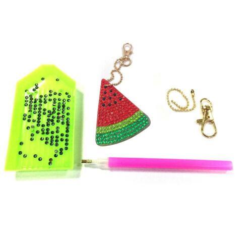 5D Full Drill DIY Diamond Painting Key Chain Keyring Handmade Pendant Key Rings