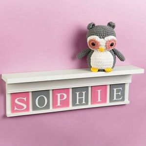 Kids Bedroom Wall Shelves personalised nursery childrens, kids bedroom wall shelf,