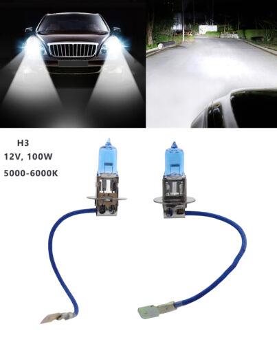 2pcs H3 12V 100W Xenon Halogen Blue car Headlight Fog Light Lamp Bulbs