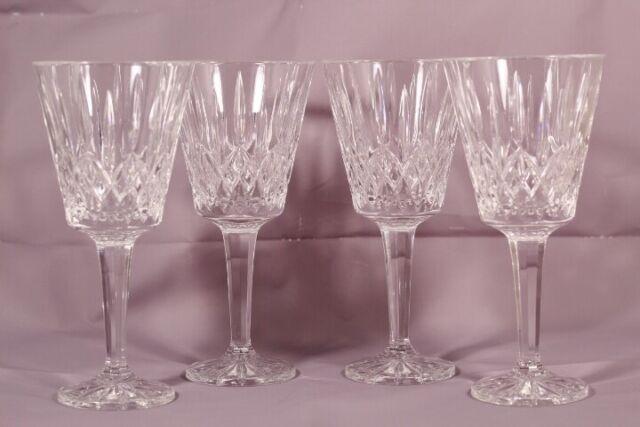 "Goblets 8/"" Shannon Dublin by Godinger Set of 4 Crystal Wine Glasses"