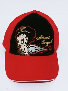 Betty Boop Lady Baseball Cap Embroidered Adjustable One Size Hat Angel Biker