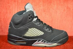 timeless design 3f59c 78544 Details about CLEAN Nike Air Jordan 5 Black Metallic OG Size 8.5 Silver  2016 845035-003
