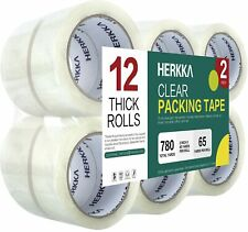 Clear Packing Tape Herkka 12 Rolls Heavy Duty Packaging Tape For Shipping New