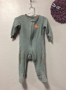 1733a493e Carters infant boy footed play outfit size 9 months gray blue fox ...