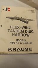 Krause Owners Manual For 7400 41 7400 46 Flew Wing Disc Harrow