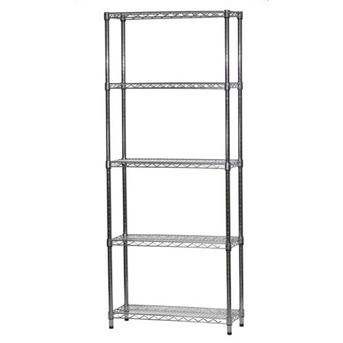 12d x 30w Wire Shelving with Five Shelves