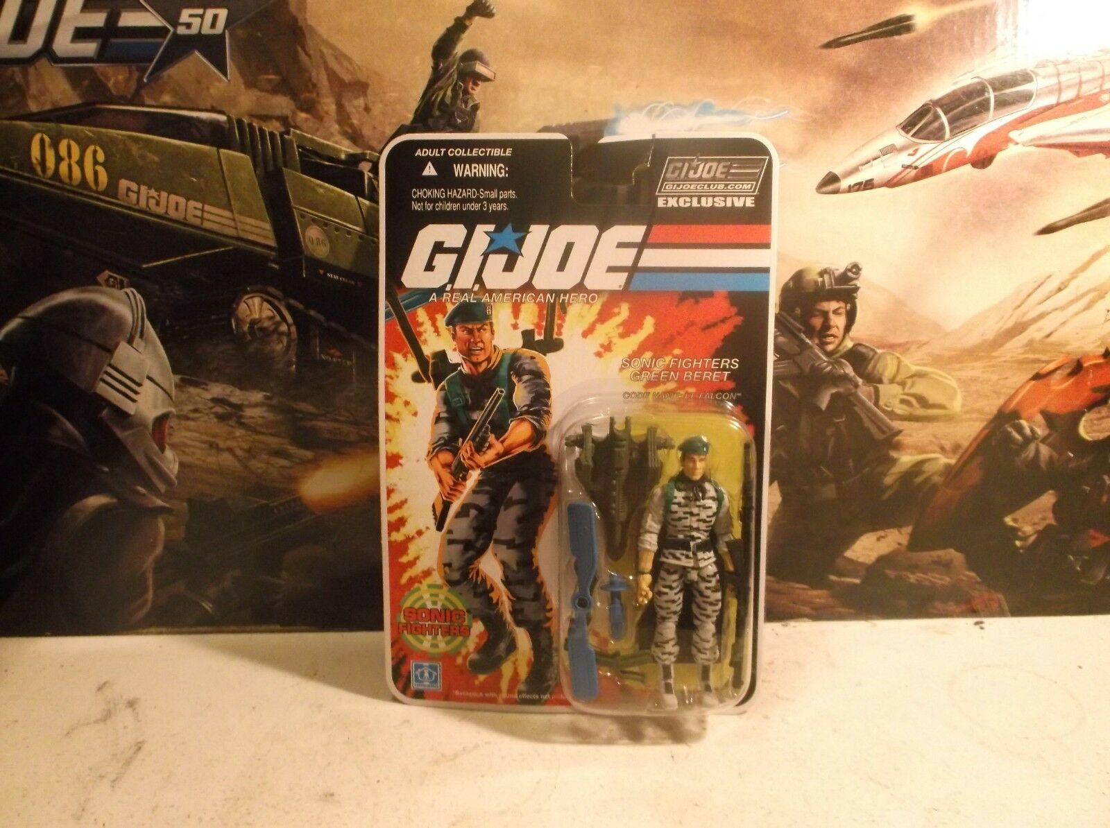 2018 Gijoe G.i.Joe Club Final 12 Sonic Fighters Lt. Falcon Figure New
