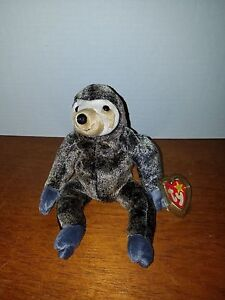 50dc81f0f4c Ty Beanie Baby Slowpoke the Sloth RARE and RETIRED with Factory ...