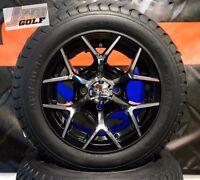 Golf Cart 12 Machined Eurosport Wheels & 215/50-12 Comfort Ride Dot Tires-set 4