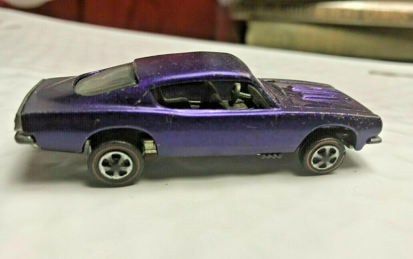con 60% de descuento Hot Wheels 1967 rojoline Personalizado Personalizado Personalizado Barracuda nos púrpura tan Vidrio Claro interior coche  Sin impuestos