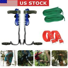 Stainless Steel Tree Climbing Spike Set Safety Belt With2 Gear Adjustable Lanyard