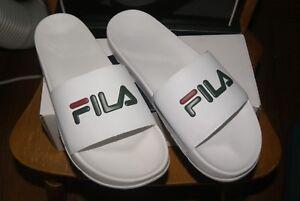 d36fe3c50 Image is loading Mens-Fila-Drifter-Slides-Flip-Flops-Sandals-White-