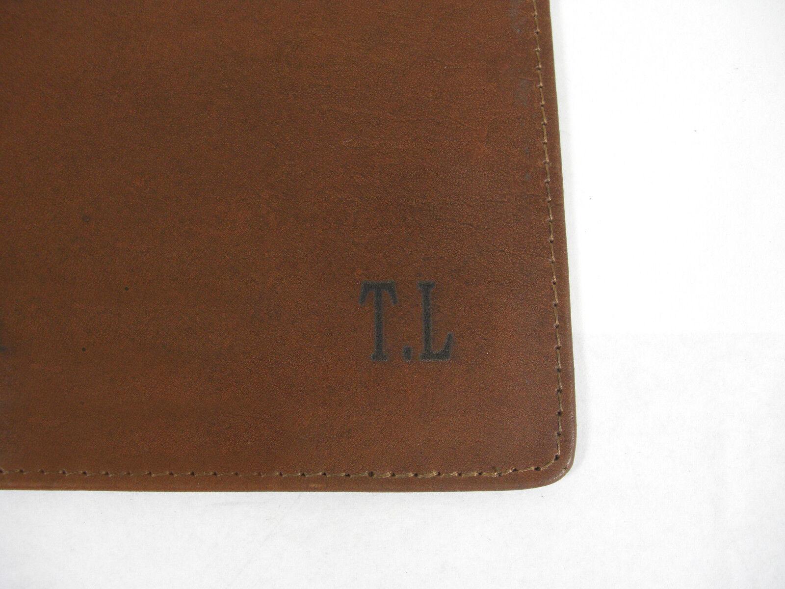 Cuir véritable souris Tapis / Coussin avec avec Coussin option pour initiales ou nom gravé dans cuir 5c6089